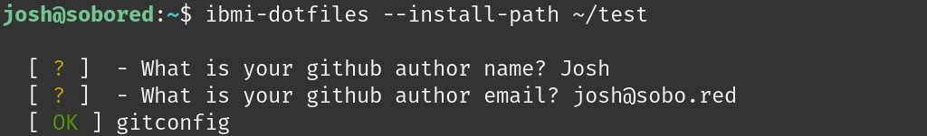 IBM i Dotfiles Install with Path